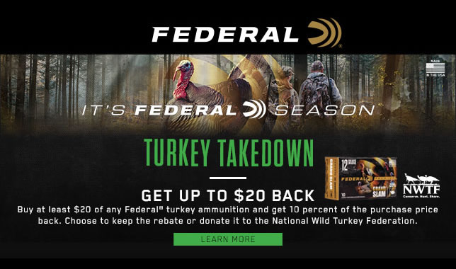 Its Federal Season Turkey Takedown
